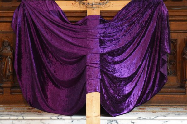 Cross with Purple Cloth